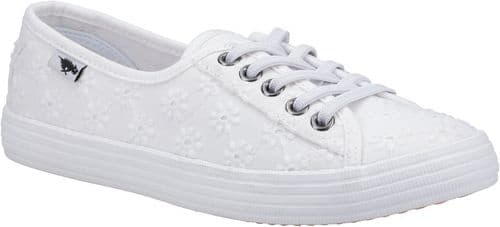 Rocket Dog Chow Chow Fortune Canvas Ladies Summer White